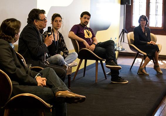 Roda de diálogo no evento de lançamento da marca com escolas de todo o Brasil