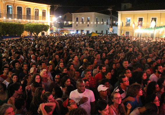 Crowd present at the festival