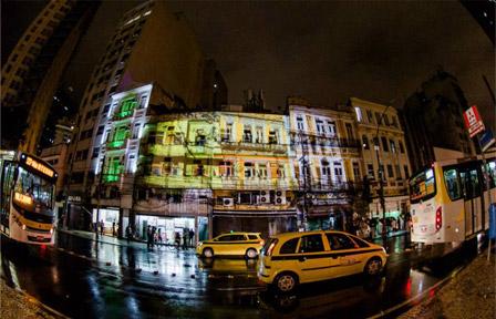 As ruas do Rio de Janeiro com as intervenÇões  do Visualismo
