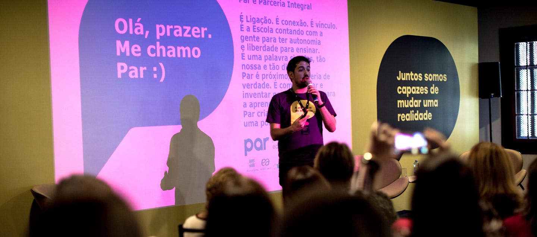 Evento de lançamento da marca com escolas de todo o Brasil