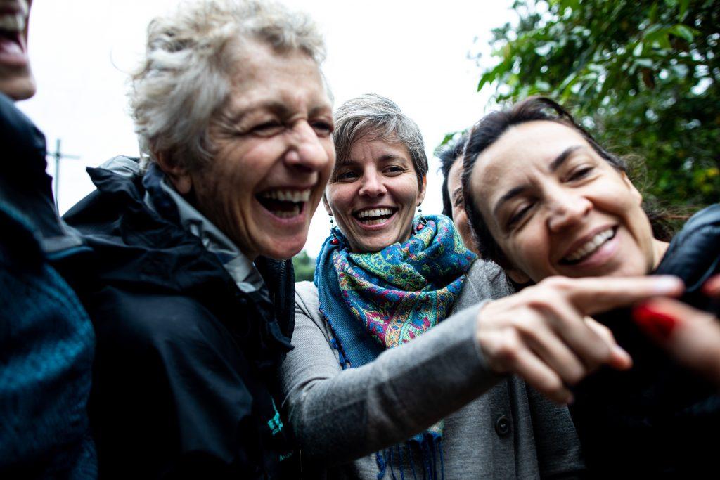 Marian Goodman, Melissa Mann e Viridiana Bertolini, participantes do Mapa