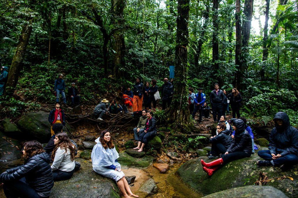 Momento de reflexão e conexão com a natureza